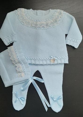 Spanish 3pc Knitted Pram Set (4120)