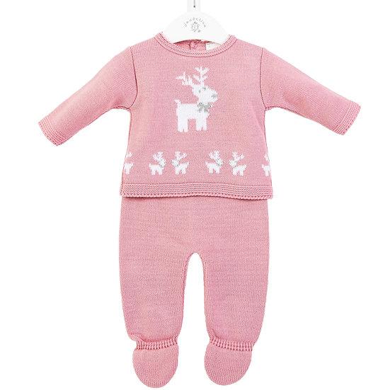 Dandelion Reindeer 2 Pc Set - Pink