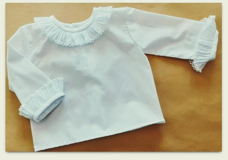 Spanish Cotton Frill Collar Blouse