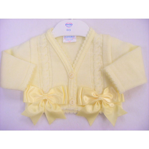 Kinder Knitter Bolero Cardingan with ribbons