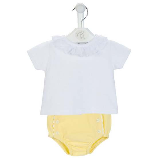 Dandelion Baby Girls Pique Pants & Panel Top