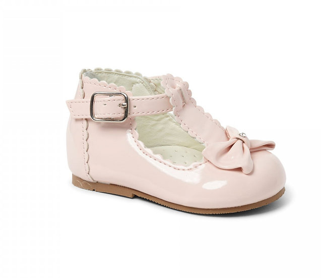 Sevva Spanish Patent Diamante Bow Shoes - Sally