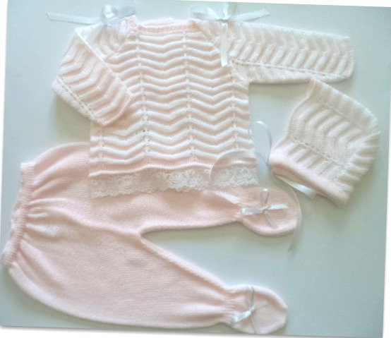 Spanish Knitted 3 pc Pretty Girls Set