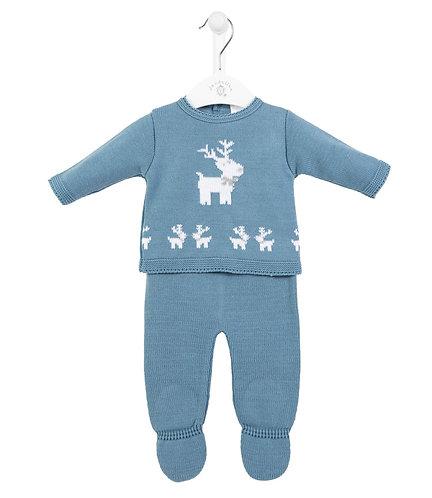 Dandelion Reindeer 2 Pc Set - Blue