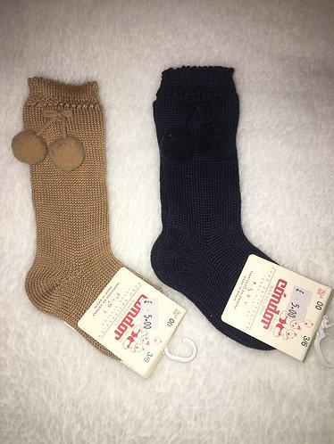 Condor Pom Pom Baby Knee High Socks
