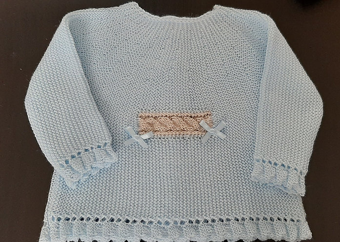 Blue Spanish Sweater