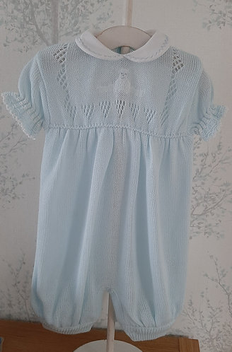 Blue Knitted Romper #2