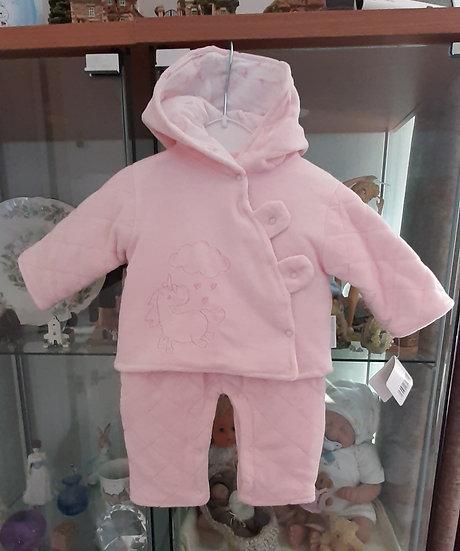 Nursery Time Padded Velour Unicorn Suit