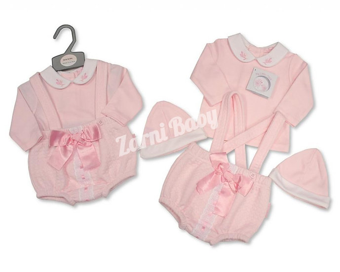 My Little Chick 3 Pc Bow & Lace Shorty Set