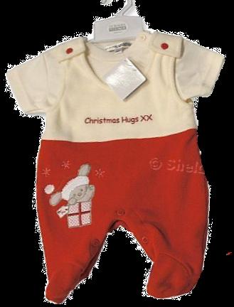 Nursery Time Christmas Fleece 2 pc Set - Christmas Hugs