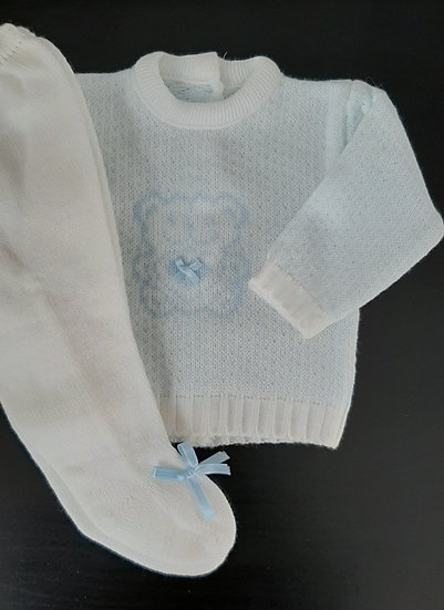 CG Knitted 2 pc Boys set with teddy motif