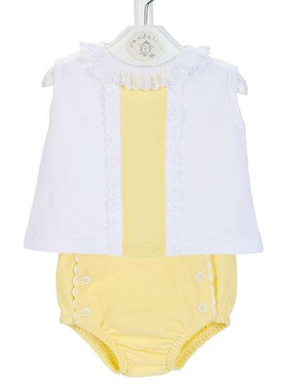 Dandelion Baby Girls Pique Pants & Panel Top