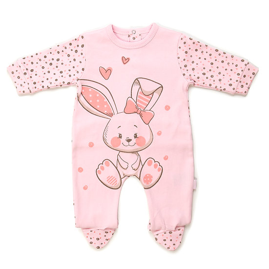 Babybol Girls Cotton Babygrow - Bunny