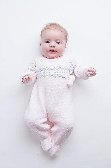 Dandelion Fairisle All in One Knitted Babygrow