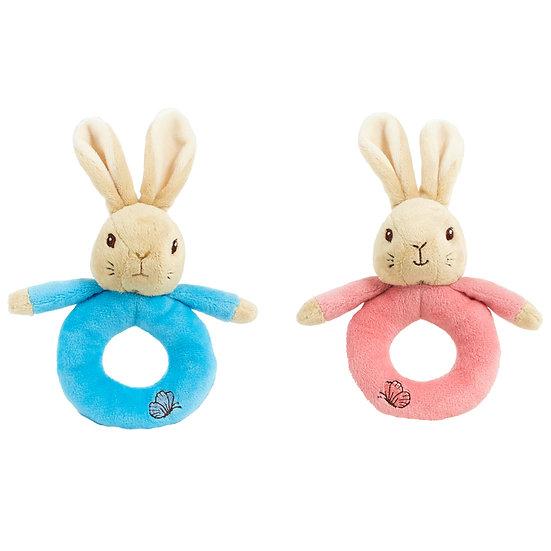 Peter & Flopsy Rabbit Ring Rattles