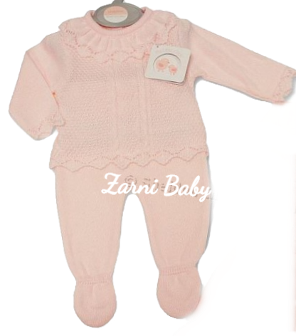 My Little Chick Knitted Baby Girls 2 Pc  Pretty Set