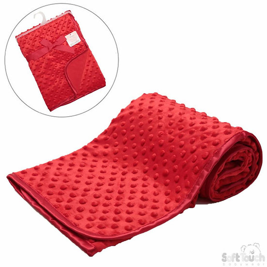 Soft Touch Minky Dot Red Blanket