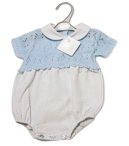 Nursery Time Boys Knitted Romper