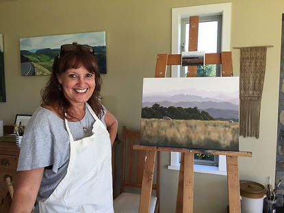 Jenny with her first painting