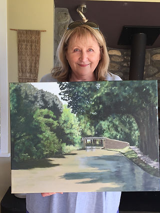 Jane F with a painting