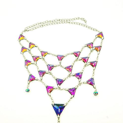 Purple Bejeweled Necklace
