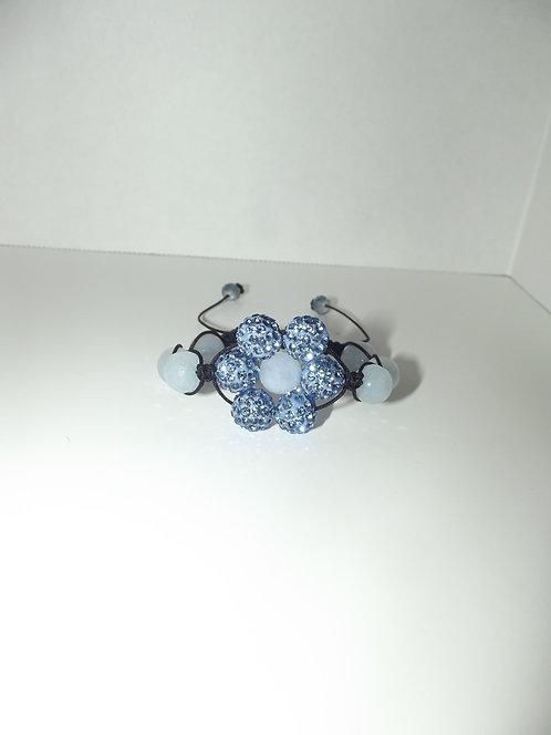 Blue Aqua Marine Shamballa Style Bracelet
