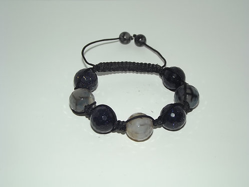 Black Onyx Shamballa Bracelet