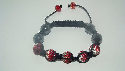 Red Shamballa Style Bracelet