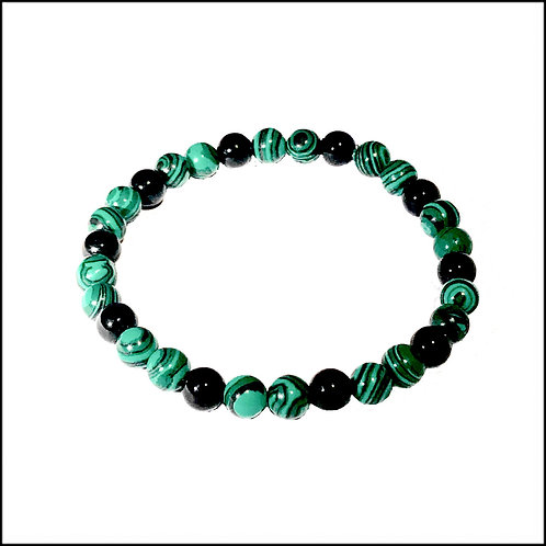 Malachite  & Black Onyx Bracelet