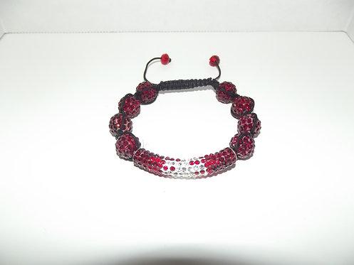 Red White Shamaballa Style Bracelet