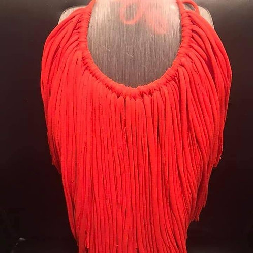 Red Tee Shirt Necklace