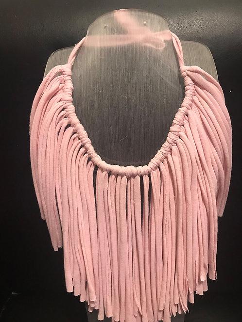 Pink Tee Shirt Necklace