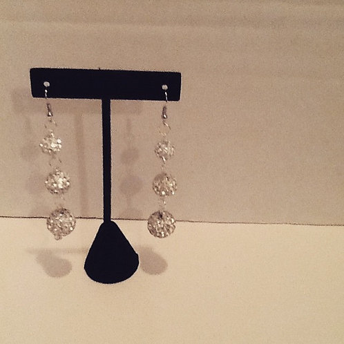 Bling silver crystal dangles