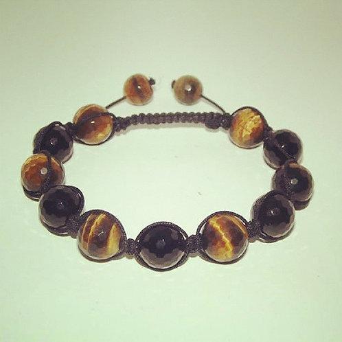 Tiger's eye shamballa style bracelet