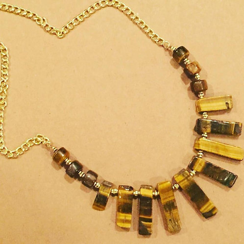 Tiger's Eye Stick Necklace