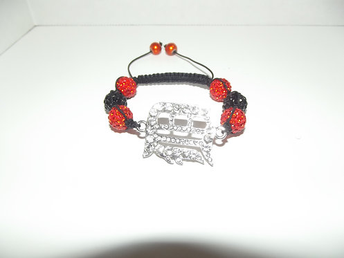 Detroit Tiger Shamballa Style Bracelet