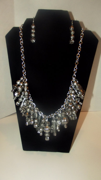 Cluster Silver Necklace