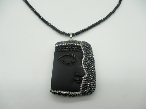 Buddha Black and Grey Necklace