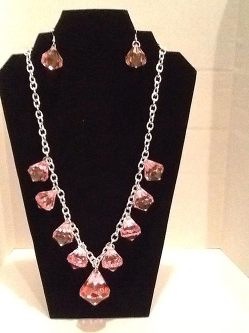 Ice pink necklace set