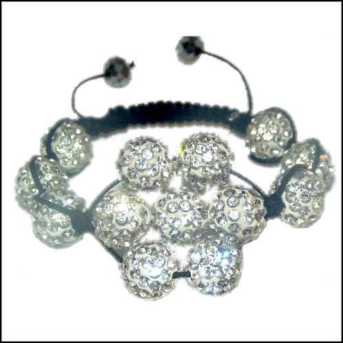 Flower Shamballa Style Bracelet