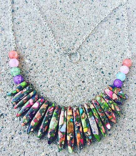 Multi-color Stick Necklace