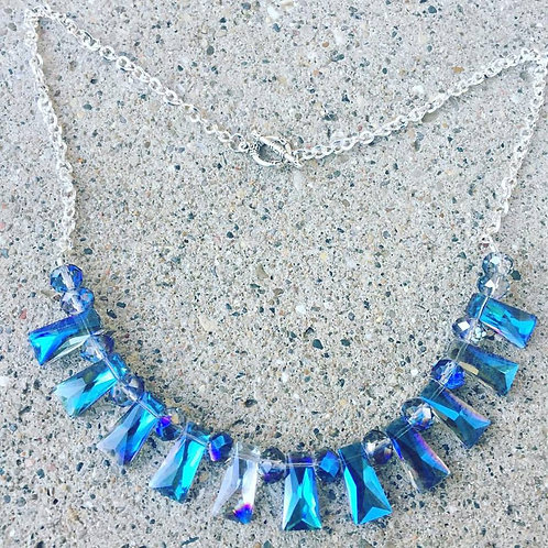Blue and Clear Necklace