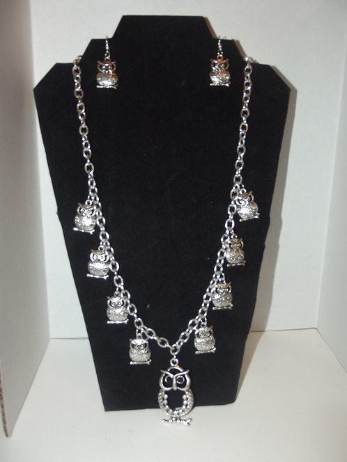 Owl Necklace Set