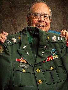 Joe with his Army Reserve chaplain's uniform