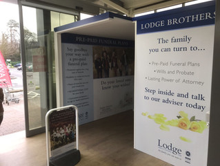Lodge Brothers Sales Cabin at Longacres Garden Centre