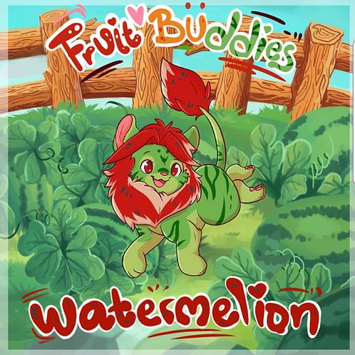 Watermelion enamel pin