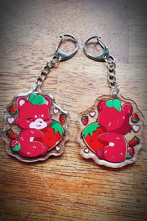 Strawbearry Acrylic Key-chain