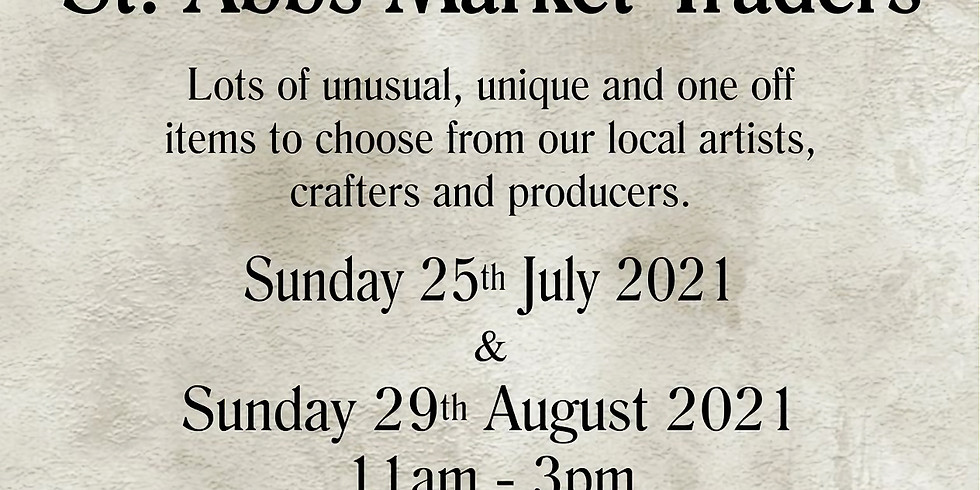 Craft Market Featuring Featuring St Abbs Market Traders