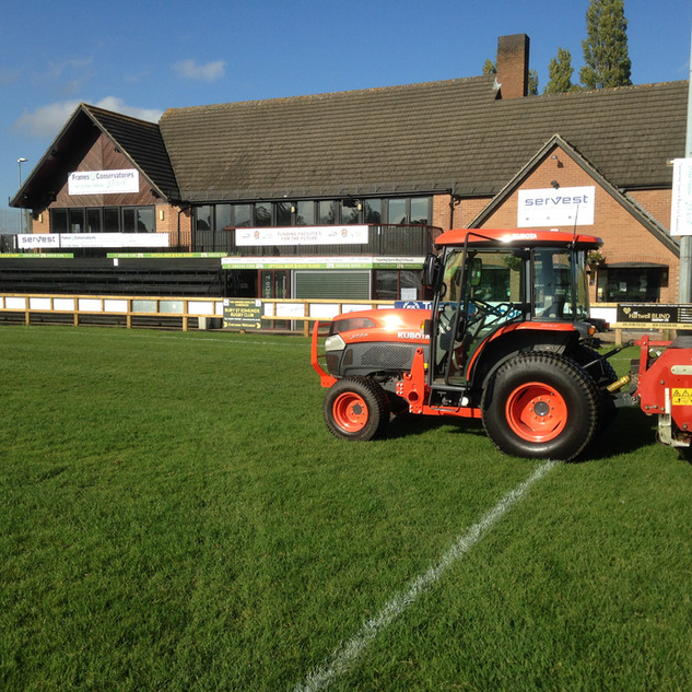Verti-draining at Bury St Edmunds Rugby