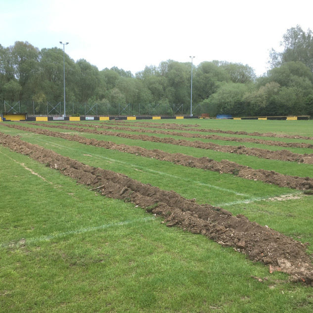 Stow FC Drainage project